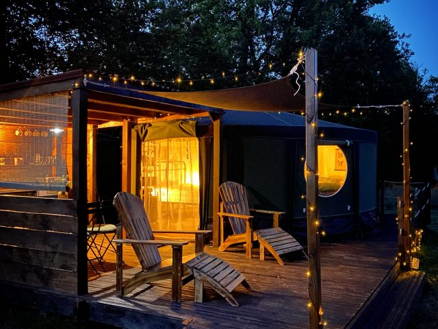 Yurt Decking night